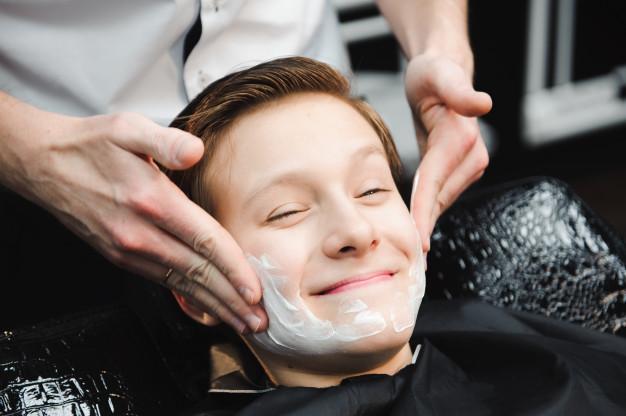 massagem na barba