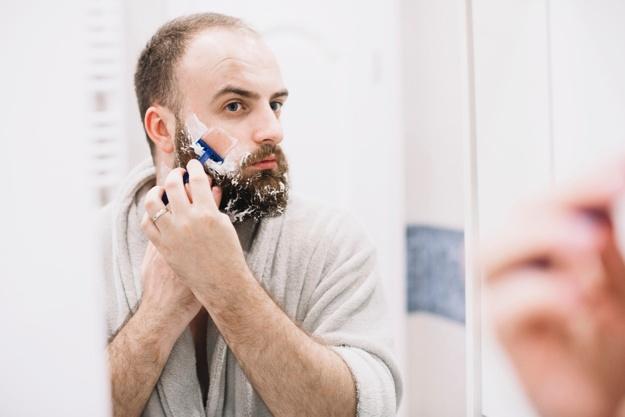 manutenção antes da higiene da barba